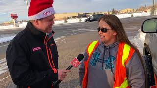 School crossing guard, hit by a car while working, receives Secret Santa surprise