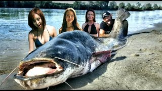 MONSTER CATFISH 265 POUND BIGGEST FISH EVER CAUGHT ON TAPE - HD by CATFISHING WORLD