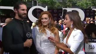 ESPN Red Carpet Interview Becky lynch and Seth Rollins