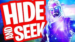 VERSTOPPERTJE MET DE GALAXY SKIN EN TIJD!! HIDE AND SEEK in FORTNITE PLAYGROUND!