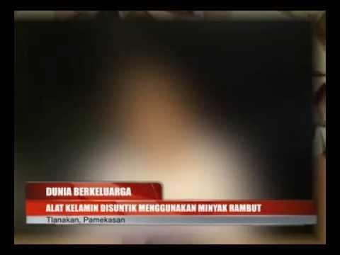 Alat Kelamin Disuntik Menggunakan Minyak Rambut - Mans Genital Inject With Oil video