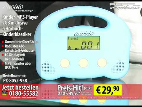 auvisio Kinder-MP3-Player kidsRock 2GB inkl. 6 Hörbuch-Kinderklassiker