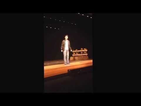 "Jake Waford as Dennis in ""All Shook Up"" Martha Layne Collins High School 8th grade year."