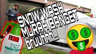 CARA MUDAH MEMBUAT SNOW WASH/ ALAT CUCI SALJU LOW BUDGET😮
