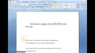 Desbloqueio / Resetar celular pirata SAMSUNG ORRO