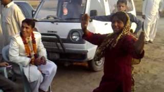 Pakistani wedding dance, villeger dance, Punjabi cultural dance, Groom with his friends