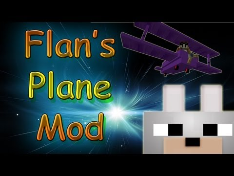 NEW - Flan's Plane Mod 1.2.5 / 1.4.6 Minecraft Mod Review and Full Tutorial