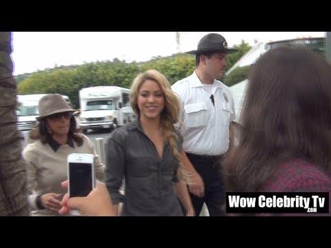 Shakira, Usher, Adam Levine and Blake Shelton spotted at Universal Studios Hollywood