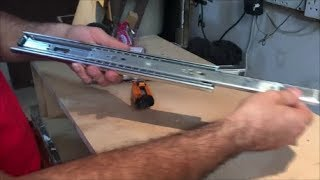 How to install drawer slides step by step