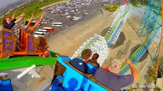 (HD POV) Twisted Colossus POV Ride -Through 2015 - Six Flags Magic Mountain