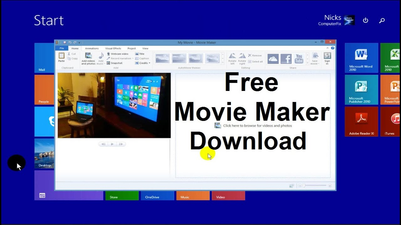 Movie maker executable