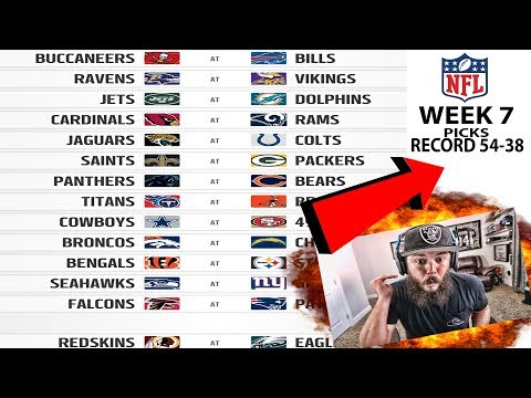 2017 NFL WEEK 7 PICKS!! BOUNCE BACK!! PERFECT PICKS IN WEEK 7