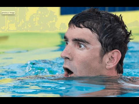 Michael Phelps misses the wall in 100 free at US Nationals
