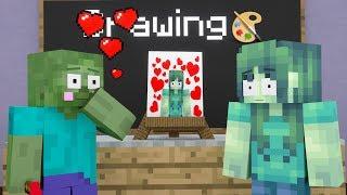 Monster School : Drawing Challenge - Minecraft Animation