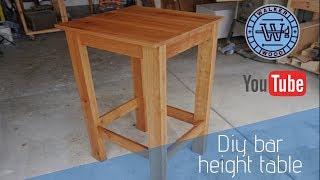 DIY  Cherry Bar Height Table