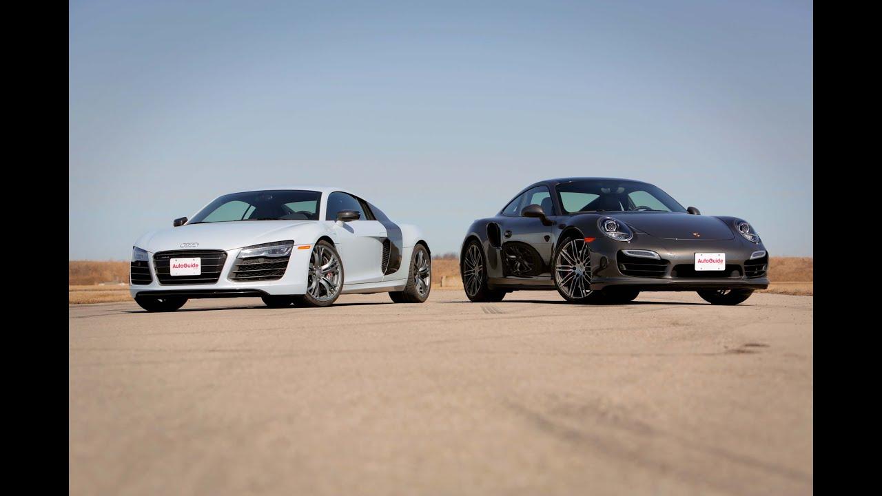 2014 Audi R8 V10 Plus Vs 2014 Porsche 911 Turbo Youtube
