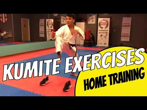 Karate at Home Training Exercises - Kumite Drills [ Footwork Training]
