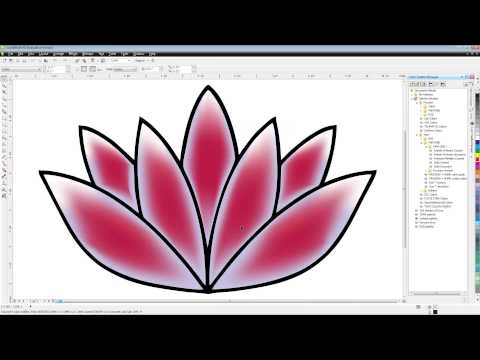 CorelDRAW Tutorial | Creating Advanced Gradients Using Mesh Fills
