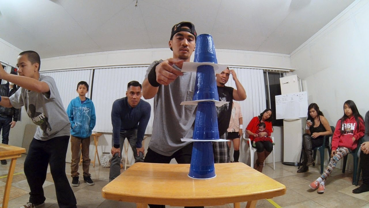 Minute To Win It Yank Me Head To Head Youtube