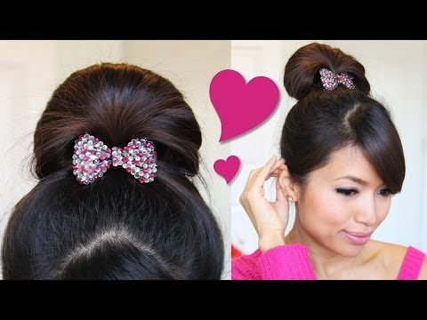 ♥ 1 Minute Perfect Fan Bun Updo Hairstyle | Hair Tutorial