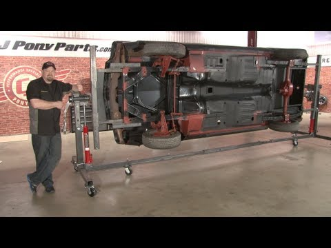 Mustang Car Rotisserie Assembly 1965 1993 Youtube