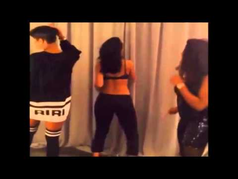 Rihanna Twerks To T Pain - Up Down Song video