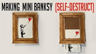 "Shredding Banksy 'Girl with Balloon' Mini Painting - to Music ""Shreddit"""