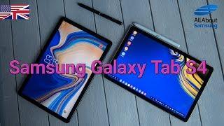 Samsung Galaxy Tab S4 Hands On first look english 4k