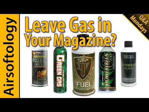 Should you leave Green Gas in your Magazines?   Airsoftology Mondays