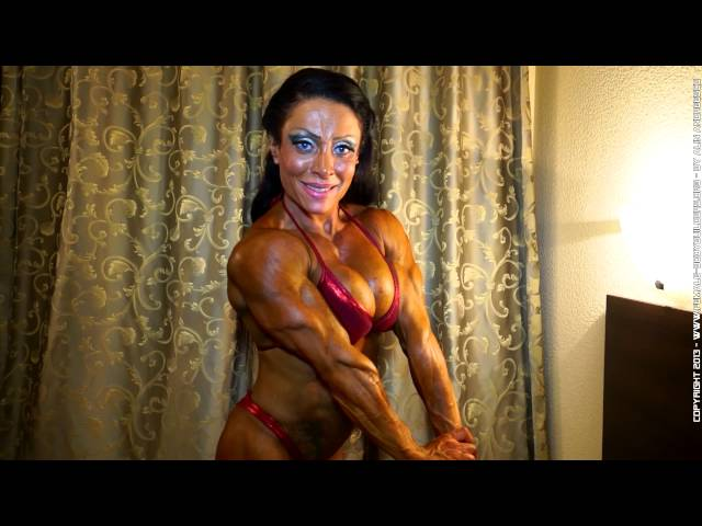 Federica Ortu after the World Women's Bodybuilding Championship