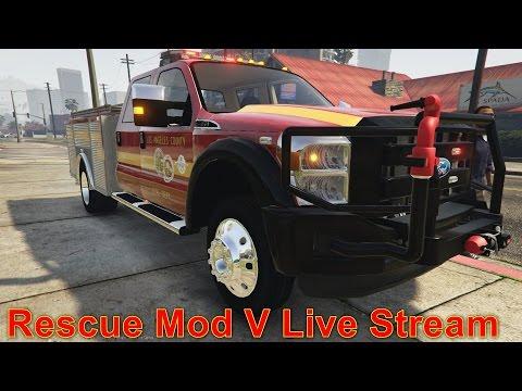 GTA 5 | Rescue Mod V Day 11 | Firefighter Mod & Coast Guard Helicopter Live Stream
