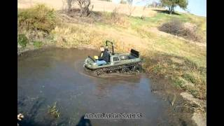 MUDD-OX 8X8 WITH ADAIR ARGO TRACKS MUD HOLE.avi