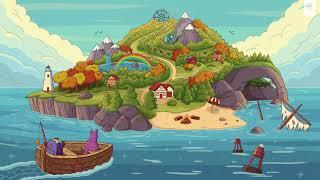 Purrple Cat - Adventure Island 🌈 [lofi hip hop/relaxing beats]