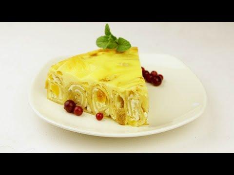 Блинный пирог с творогом - Рецепты от Со Вкусом