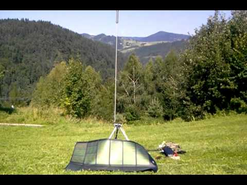 Portable ham radio-solar power free energy