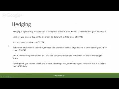 Nadex 101 Series - Part 3 - Working Orders, Stop Losses, Take Profit and Hedging - with SlickTrad...