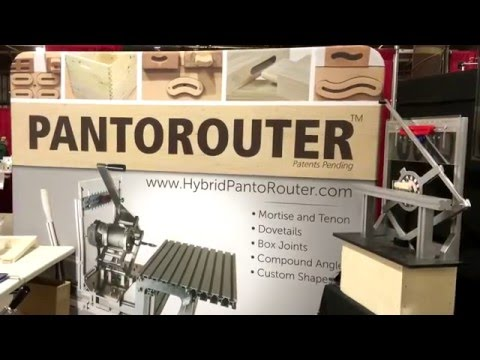 Pantorouter trade show display at Baltimore wood show
