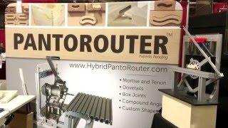 Pantorouter trade show display at Baltimore wood show