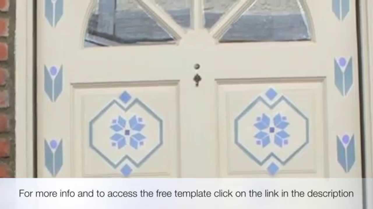 FROZEN TUTORIAL - Puerta de Elsa y patrones GRATIS Elsa's bedroom door