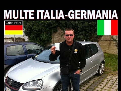 CONFRONTO  MULTE ITALIA - GERMANIA