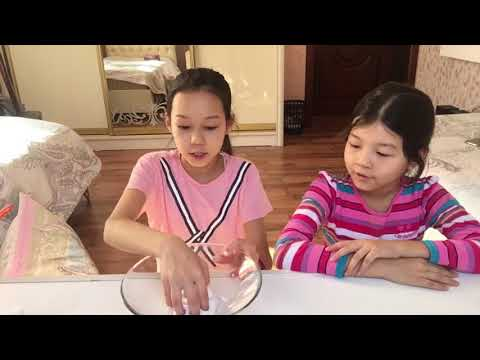как сделать молоко слайм , воздушный флаффи слайм?😍