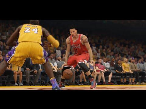 NBA 2k15 PS4 Gameplay - Derrick Rose vs Kobe Bryant! Chicago Bulls vs Los Angeles Lakers Full Game!