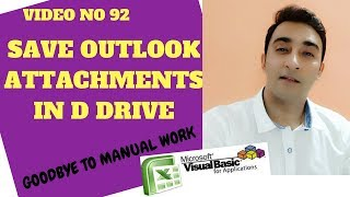 Learn Excel - Video 92 -VBA How to Save Email Attachments on Desktop