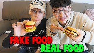REAL FOOD VS FAKE FOOD CHALLENGE!