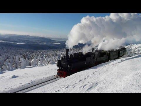 Traumhafte Impressionen von der winterlichen Brockenbahn st