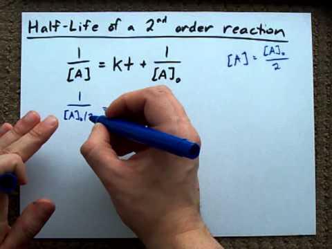 Half life formula chemistry