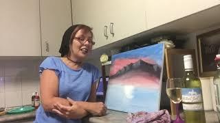 Tipsy Bob Ross painting