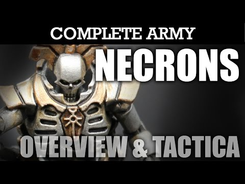 NECRONS Complete Army Overview 3 Tactica & Battle Plan! Warhammer 40K Army Showcase | HD
