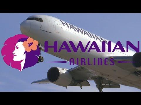 HD EMERGENCY Hawaiian Airlines 767-33A/ER N583HA Landing at San Jose International Airport