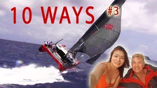 Can Our Catamaran Capsize ? - Ep 49 Sailing Luckyfish 10 Ways #3